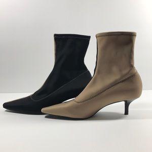 Zara Two Tone Trafaluc High Heel Ankle Boots